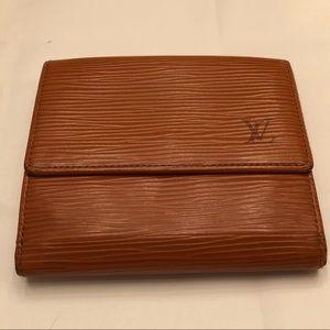 Louis Vuitton Epi Leather Elise Wallet caramel EUC